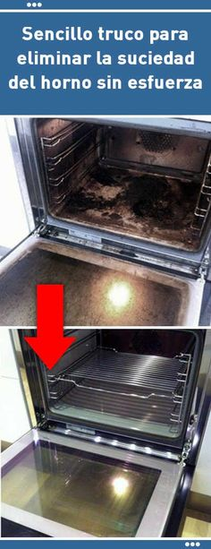 Sencillo truco para eliminar la suciedad del horno sin esfuerza. Tu horno va a lucir como nuevo