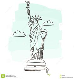 statue of liberty building illustration - Google Search