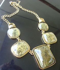 New fashion green big pendant beads bib resin gem Necklace xl27