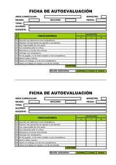 FICHA DE AUTOEVALUACIÓNÁREA CURRICULAR: BIMESTRE:GRADO: SECCIÓ… Spanish Teacher, Spanish Classroom, Teaching Spanish, English Activities, Class Activities, Classroom Activities, Too Cool For School, Middle School, Teaching Methodology