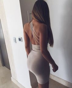 dress nude nude dress bodycon dress sexy summer one shoulder cocktail dress bodycon strappy strappy dress party dress sexy party… Sexy Outfits, Mode Outfits, Fashion Outfits, Dress Fashion, Fashion Clothes, Disco Outfits, Tight Dresses, Sexy Dresses, Cute Dresses