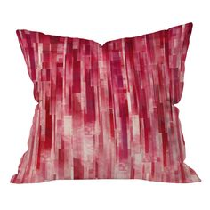 Jacqueline Maldonado Red Rain Pillow