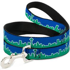 Buckle-Down 'Seattle Skyline Blue/Green' Dog Leash ** Check this awesome product by going to the link at the image. (This is an affiliate link and I receive a commission for the sales)