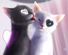 Пара котиков - скачать обои на рабочий стол