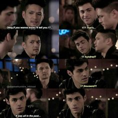 #Shadowhunters2x06 ~Iron Sisters~ Alec always make faces that make me laugh