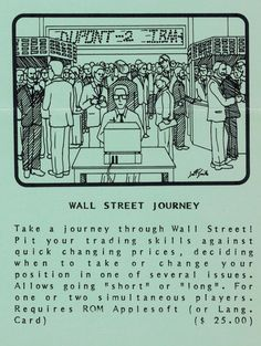Flyer ad for Wall Street Journey program (1982). Wall Street, Telephone, You Changed, Connection, Software, Journey, Positivity, Memes, Phone