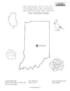 Usa printables state of indiana coloring pages indiana for Indiana pacers coloring pages