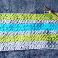 Working on this little beaut this weekend. Wasn't sure about the colours up until about 5 minutes ago and now I'm in love.  Pattern is Sweet Ocean Breeze Blanket by Little Monkeys Crochet  #crochet #crochetingthroughlife #crochetersofinstagram #hookersofinstagram #crochetingthruchronicdiseases #crocheting #crochetblanket #colourful #blanket #baby #yarn #crochethook #instacraft #craftersofinstagram by gretelratzinger