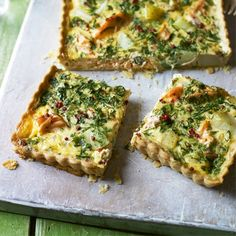 Higgidy's Salmon And Watercress Quiche With Pink Peppercorns. This quiche is a nod to Spring, when delicious watercress comes into season. This is a perfect recipe to serve up on an Easter table or at a sunny spring picnic. find the recipe at www.redonline.co.uk