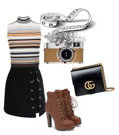 Autumn.Sophisticated look.🌸 by christianajade on Polyvore featuring polyvore, fashion, style, WearAll, Chicwish, JustFab, Gucci, Pieces, Hermès and clothing