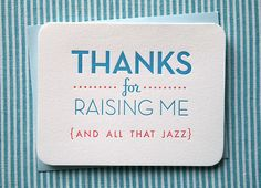 I love you mom & dad ... (And All That Jazz Card on Etsy, $5.00)
