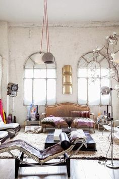 Eclectic studio in Madrid