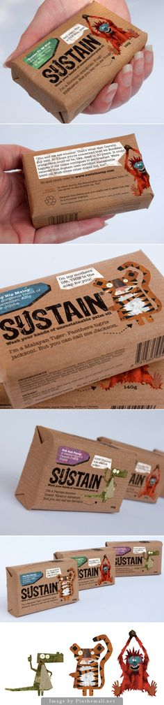 "The cutest eco #packaging idea for ""Sustain"" #soap curated by Packaging Diva PD created via http://www.packagingoftheworld.com/2011/07/sustain.html"