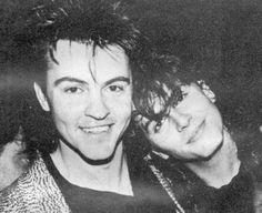 Paul Young with John Taylor of Duran Duran.