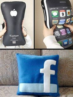 Tech Pillows-For those of you like me who just cannot let go of your technology.