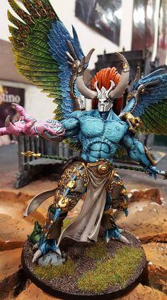 Warhammer 40k   Chaos Space Marines   Daemon Primarch Magnus the Red #warhammer #40k #40000 #wh40k #wh40000 #warhammer40k #gw #gamesworkshop #wellofeternity #miniatures #wargaming #hobby #tabletop