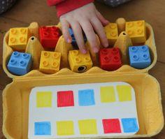 Idea para trabajar con las hueveras de cartón diferentes conceptos en preescolar 5