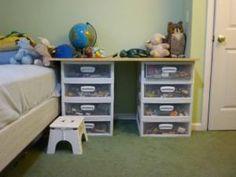 kids room organization- shelf