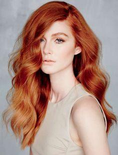 Bakır Rengi Uzun Saç Modelleri