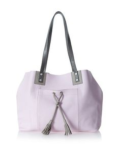 """Luciana Verde Women's Shivani Tote Bag, Crystal Pink,  $135 Eternally elegant tasseled tote with an outer slip and an inner zip pocket Country of origin: United States Material: 100% Leather Lining: Leather Item Dimensions: height 11"""", width 15"""", depth 5"""", shoulder drop 10"""""""