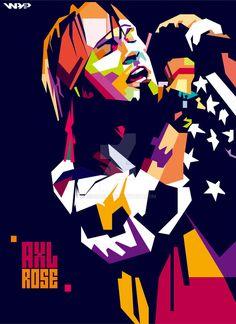 Axl Rose WPAP by bennadn. on Axl Rose WPAP by bennadn. Guns And Roses, Axl Rose, Rock And Roll Bands, Rock N Roll, Digital Foto, Rock Band Logos, Band Wallpapers, Pop Art Portraits, Art Folder
