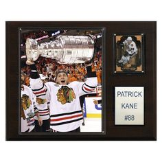 NHL 12 x 15 in. Patrick Kane with Stanley Cup Chicago Blackhawks Player Plaque - 1215KANECUP