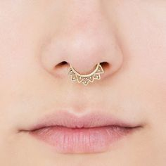 VALENTINE SALE Tribal Septum Ring for pierced by Umanativedesign