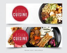Design Restaurant Banner For Social Networks, Template For Advertising Facebook Cover Template, Restaurant Design, Social Networks, Food, Essen, Meals, Social Media, Yemek, Eten