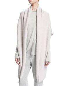 Jersey Cashmere Shawl-Collar Cardigan W/ Sequins Trim