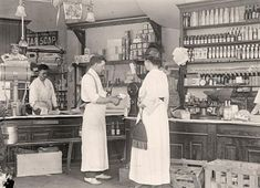 An original image of an Old General Store. Taken in 1917 by Harris & Ewing.