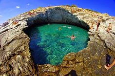 WHBC-GR: Γκιόλα - Θάσος   Μια Φυσική Πισίνα καταμεσής στο Πέλαγος!