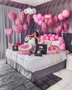 Birthday Balloon Decorations, Anniversary Decorations, Happy Birthday Balloons, Happy Birthday Decor, Romantic Birthday, Ramadan Decorations, Birthday Goals, 21st Birthday, Birthday Parties