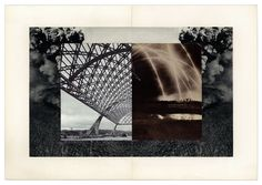 Elena Damiani art collage ruins architecture. Study for a Symmetrical Dichotomy. Collage. 2010