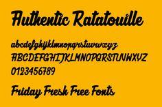 Friday Fresh Free Fonts - Authentic Ratatouille, Arkhip, Nickainley