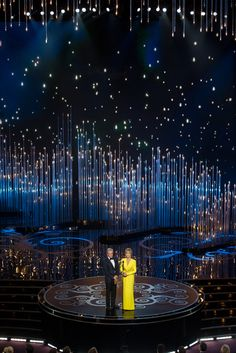 Presenters Michael Douglas and Jane Fonda on stage. Academy Awards and the Oscars   Academy of Motion Picture Arts and Sciences