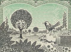 """Mark Wagner, the collage artist who created """"Currency Portraits,"""" a series composed of meticulously cut pieces of dollar bills, is showing new work in an exhibition in New York City. Wagner's currency work is precise, intricate and thought-provoking. With a whimsical theme and fantastical images, he challenges viewers to examine their relationship with money and the capitalist society in which we live. An exhibition of his work can be seen at Pavel Zoubok Gallery until October 5."""