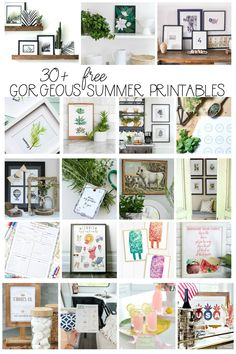 Watercolour Herb Free Kitchen Printables {in 10 designs!}