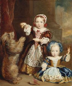 "The & Children of Queen Victoria (Alexandrina Victoria) UK & Prince Albert Saxe-Coburg & Gotha, Germany: The Princess Victoria Adelaide UK feeding dog & young brother Albert Edward ""Bertie"" (Edward VII) Queen Victoria Children, Queen Victoria Family, Queen Victoria Prince Albert, Victoria And Albert, Princess Victoria, Reine Victoria, Victoria Reign, Victoria's Children, Vintage Children"