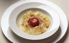 by Carlo Cracco - Tuorlo d'uovo marinato con fonduta leggera di parmigiano