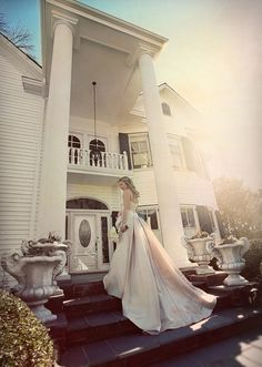 Lovely wedding dress and photo.