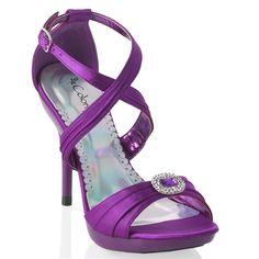 """Miley"" Platform Sandal in Purple"