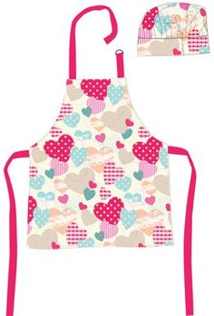 Shreds Sugar and Spice Hearts Apron and Chef's Hat Set: Amazon.co.uk: Toys & Games