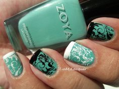 love the opposite effect - still looks great together    LuvMyLacquer: Getting Fancy With Zoya Wednesday
