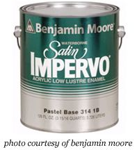 impervo-paint for trim & doors....paints & sheens by pretty handy girl, looks like a great blog!