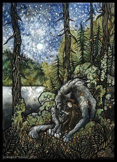 ''Les loups n'ont qu'une seule compagne'' by Sieskja.deviantart.com on @DeviantArt