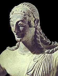 Apollo of Veii, Terracotta, 510 B.C. (from Portonaccio Temple).  (Ratna)
