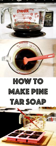 Natural Pine Tar Soap Recipe & Tutorial! Learn how to make homemade pine tar soap with this simple cold process pine tar soap recipe which has been known to help with skin conditions including psoriasis and eczema. Discover this soap-making DIY now at Soap Deli News blog!
