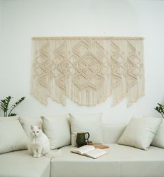 Large macrame wall hanging macrame wall hanging by TheWovenDream