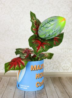 Make Audrey 2, the carnivorous plant from Little Shop of Horrors, for Halloween decor or as a prop for your Halloween costume.
