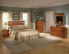 Orchard Park Brown Cherry Bedroom Set